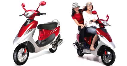 TVS Scooty is coming with 99 color choices